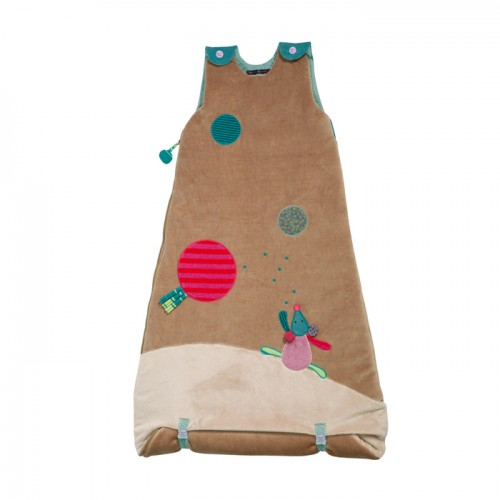 Baby extensible brown sleeping bag 90/110cm