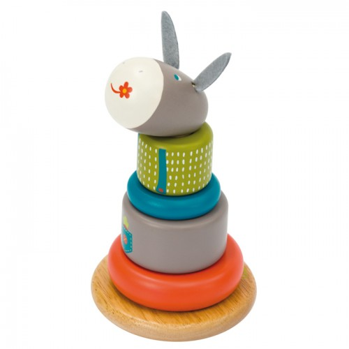 Les Cousins Wood Baby Stack-up Donkey 12*21cm