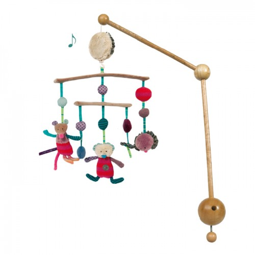Wood & Textile turning Musical Mobile H55*30cm