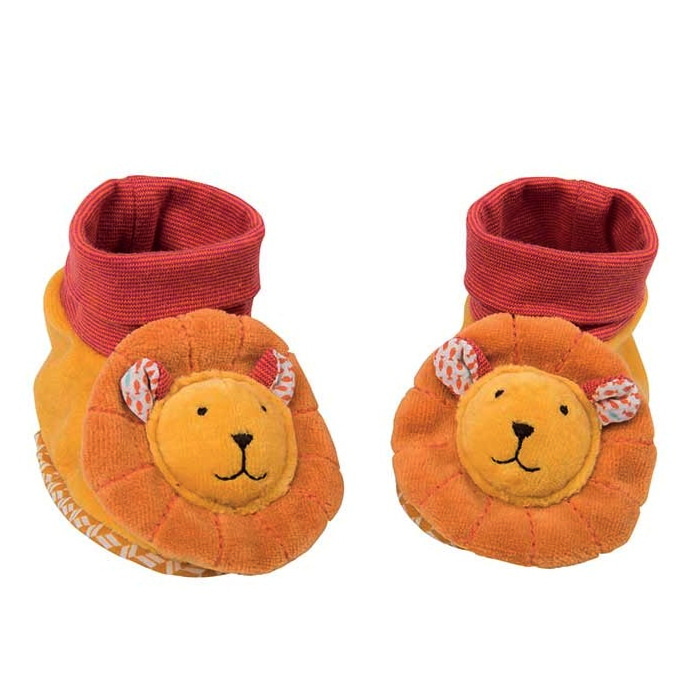 Les papoum Lion baby slippers